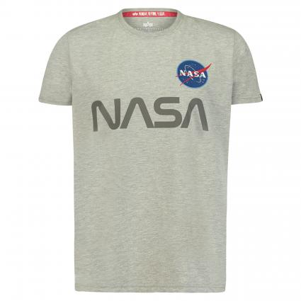 T-Shirt 'Nasa' mit Frontprint grau (17 grey heather)   S