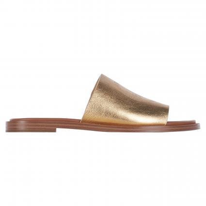 Sandalen mit breitem Riemen gold (740 PALE GOLD)   8,5