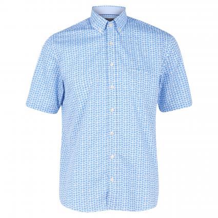 Kurzarmhemd mit Button-Down Kragen blau (8051 Blue)   XL