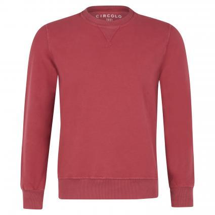 Sweatshirt mit Rippbündchen rot (MULCH) | M