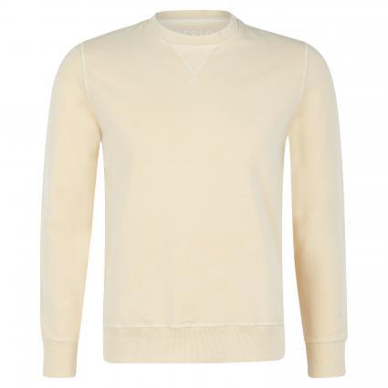Sweatshirt mit Rippbündchen gelb (RATTAN) | M