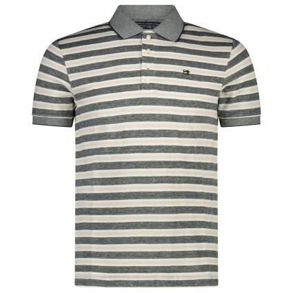 Poloshirt mit All-Over Streifenmuster  grau (0217 grey beige linen) | S