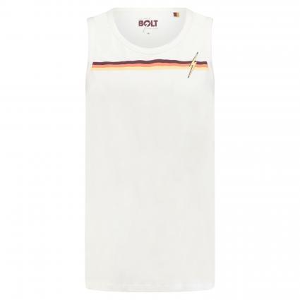 Ärmelloses Shirt 'Stripe' weiss (W00 white) | M