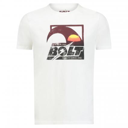 T-Shirt mit Frontprint ecru (W03 egret) | S