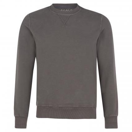 Sweatshirt mit Rippbündchen bordeaux (EARTH RED)   M