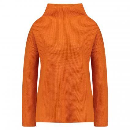 Strickpullover mit Stehkragen orange (orange) | XL