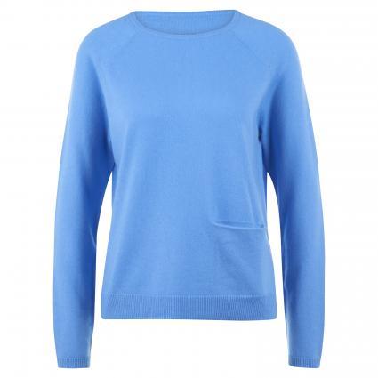 Cashmerepullover mit Einschubtasche blau (sky blue)   XXL