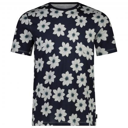 T-Shirt 'Nade' mit floralem All-Over Muster  marine (navy) | L