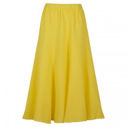 Midirock aus Leinen gelb (200 yellow) | 44