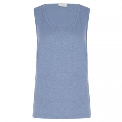 T-Shirt 'Lolo' aus Leinen blau (GLACIER) | L