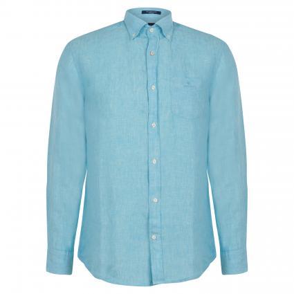 Regular-Fit Hemd aus Leinen türkis (450 Aqua) | XXL