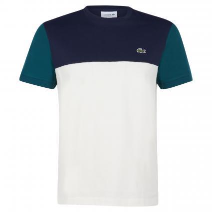 T-Shirt in Colour-Blocking Optik grün (XP2 Green)   XXL