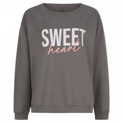 Sweatshirt mit Rippstrickbündchen anthrazit (971 elephant) | XXL