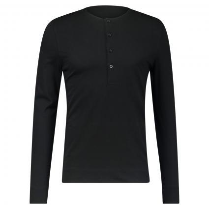Langarmshirt 'Cappe' schwarz (050-Black) | S