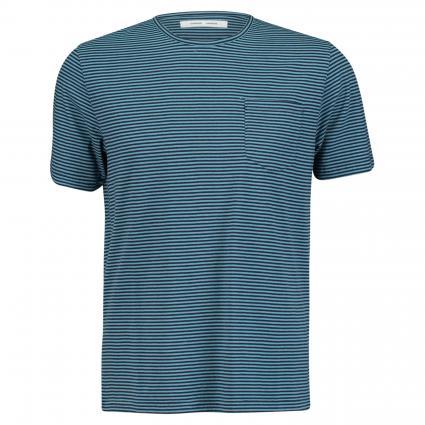 T-Shirt mit Streifenmuster marine (dark niagara) | L
