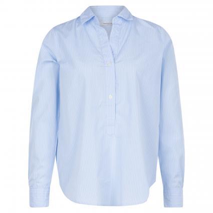 Bluse mit Streifenmuster blau (050/0001 bleu) | 44