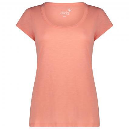 T-Shirt mit Rundhalsausschnitt  orange (719 new flamingo) | XL