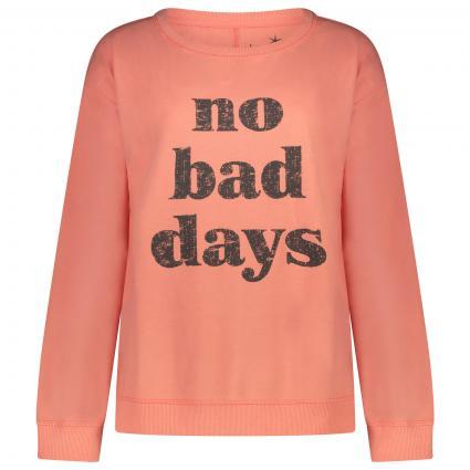 Sweatshirt mit Statement Print  orange (719 new flamingo)   S