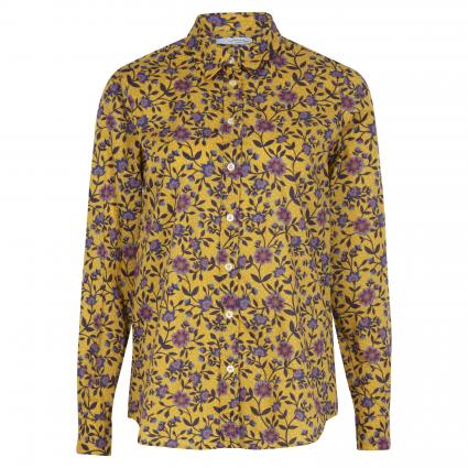 Bluse mit floralem Muster gelb (2139C blume grafisch)   42
