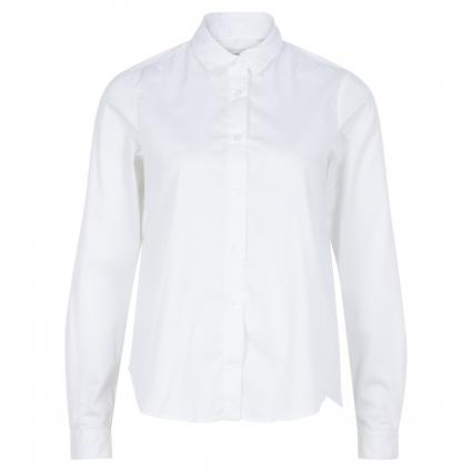 Unifarbene Basic Bluse  weiss (0 weiß) | 46