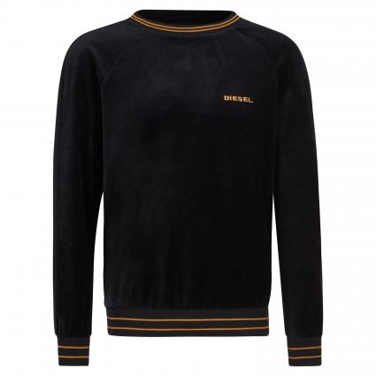 Sweatshirt in Samt-Optik schwarz (900 black) | M