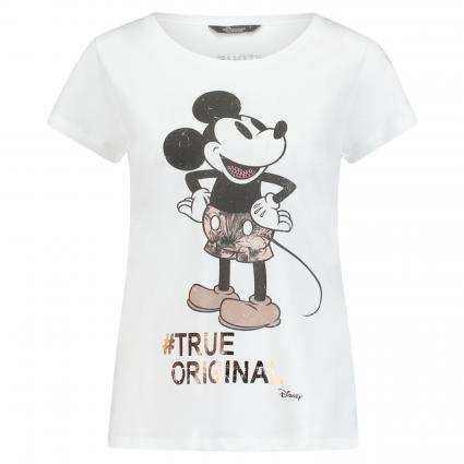 T-Shirt mit Mickey Mouse Print  weiss (1100 weiss) | 44