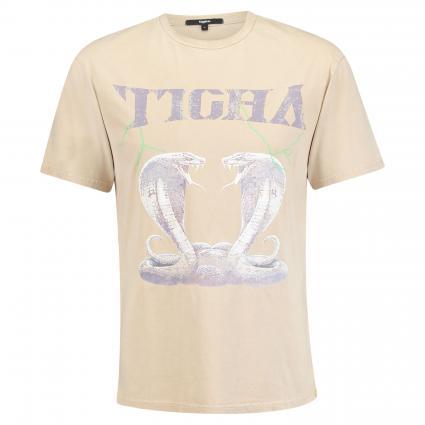 T-Shirt aus Baumwolle beige (vintage sand)   S