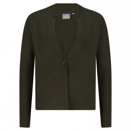 Strickjacke aus Cashmere oliv (khaki) | S