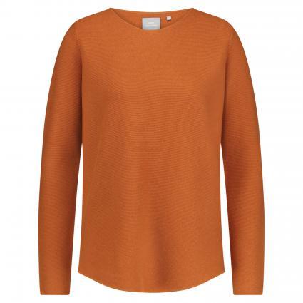 Oversized Pullover aus Cashmere camel (zimt) | S