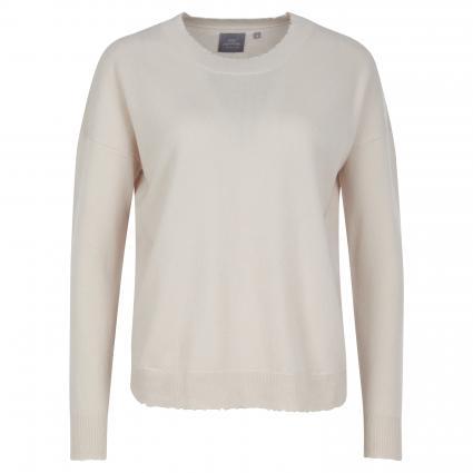 Pullover aus Cashmere mit Mäusezähnchen ecru (stein)   XL