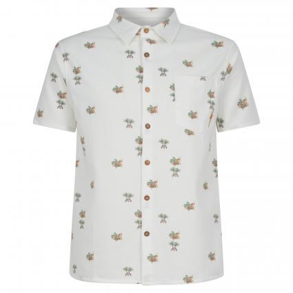 Hemd aus Baumwoll-Mix ecru (W00 white) | M