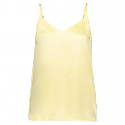 Top aus reiner Viskose gelb (PALE BANANA) | XS