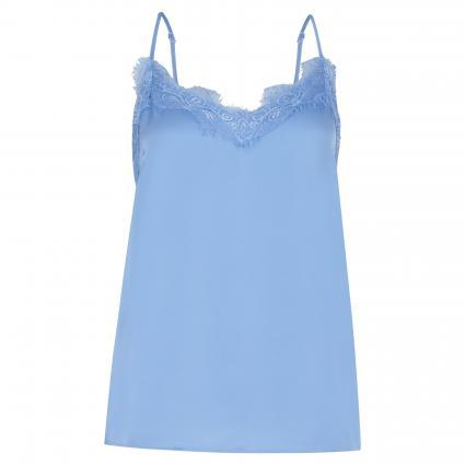 Top 'Lity' mit Spitzendetails blau (VISTA BLUE) | M