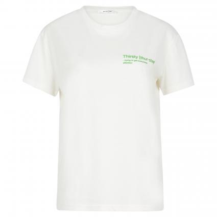 T-Shirt 'Liv' mit 3D Print ecru (EGRET/THIRSTY) | S