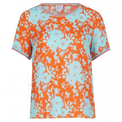 Blusenshirt mit floraler Musterung orange (390 orange/blau) | 42