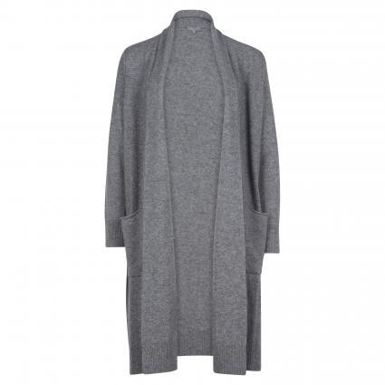 Offene Strickjacke aus Wolle-Cashmere grau (7170 grau mel)   46