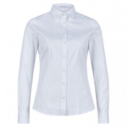 Klassische Bluse aus Baumwolle weiss (10 weiß) | 44