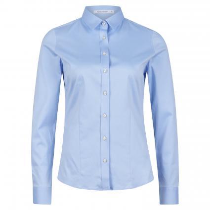 Klassische Bluse aus Baumwolle blau (60 bleu) | 40