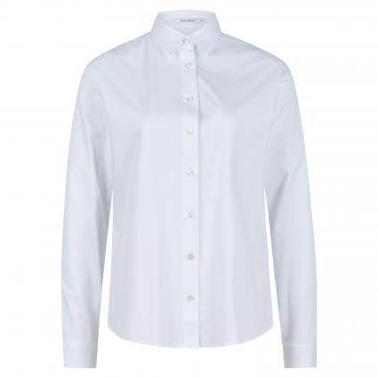Bluse aus reiner Baumwolle weiss (10 weiß)   40
