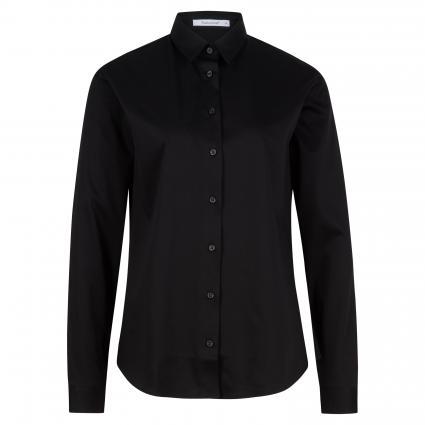 Bluse aus reiner Baumwolle schwarz (99 schwarz) | 34