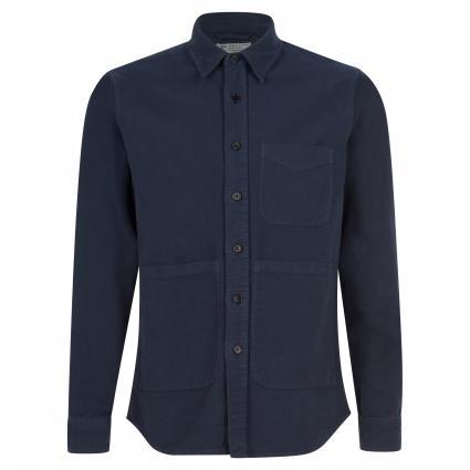 Regular-Fit Hemd aus Baumwolle marine (85098) | M