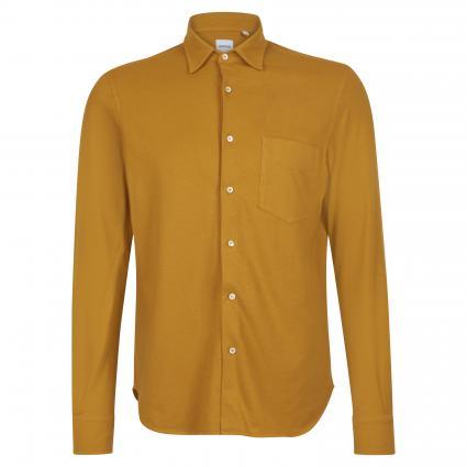 Regular-Fit Hemd aus Baumwolle gelb (85311) | XL