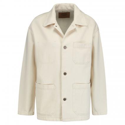 Jeansjacke aus Baumwolle ecru (ECRU) | XS/S