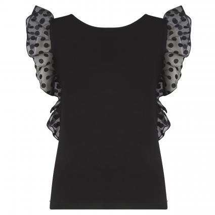 Bluse mit Transparenten Details schwarz (JBLK JET BLACK A996) | XS