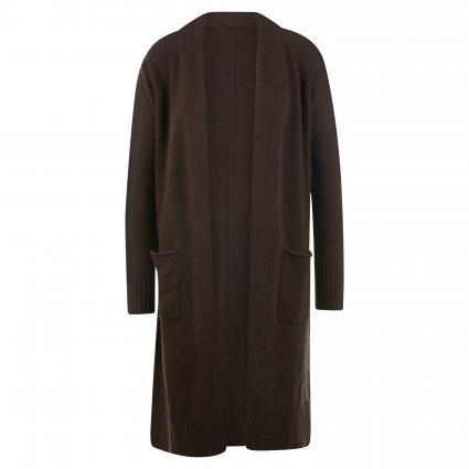 Offene Strickjacke aus Cashmere braun (brownie)   XL