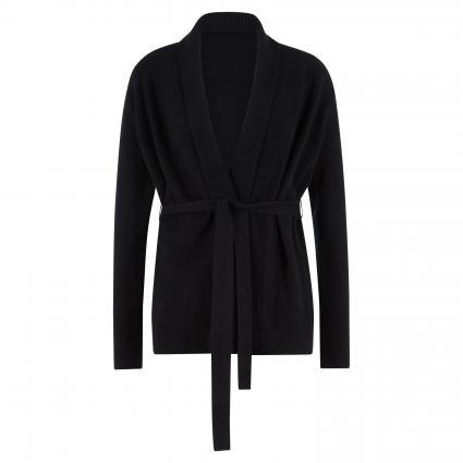 Offene Strickjacke aus Cashmere schwarz (black) | M