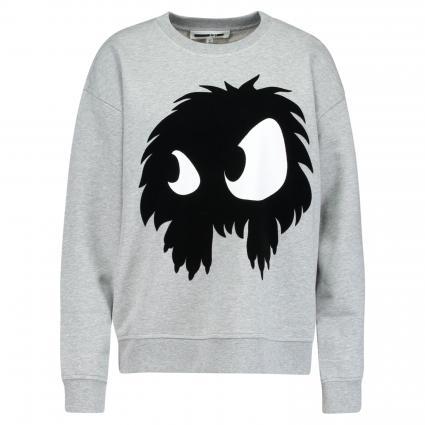 Sweatshirt mit Rundhalsausschnitt grau (MERCURY MELANGE) | XS