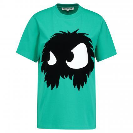 T-Shirt mit Aufdruck türkis (PURE JADE) | M