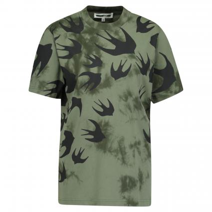 T-Shirt aus Baumwolle grün (MILITARY KHAKI) | S
