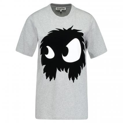 T-Shirt mit Aufdruck grau (MERCURY MELANGE) | XS